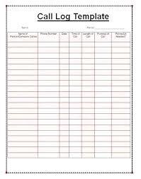 Images Of Printable Call Log Sheet Template Phone Free