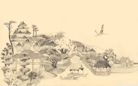 Japanese Drawing Ultra Hd Desktop Background Wallpaper For