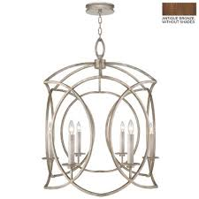 cienfuegos 6 light candle style chandelier finish antique bronze shade included
