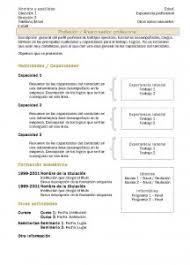 modelo curriculum funcional modelo curriculum