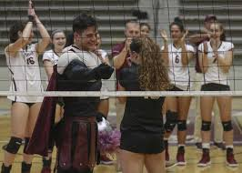 the ua little rock volleyball team congratulates senior sydnee martin who just got ened to
