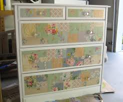 covering furniture with contact paper. How To Wallpaper Furniture. Vintage Collage Covered Dresser 1 Furniture P Covering With Contact Paper N
