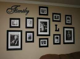family collage wall home decor wall