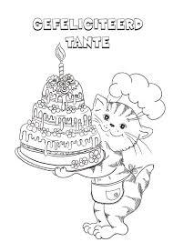 Mooie Kleurplaat Verjaardag Tante Krijg Duizenden Kleurenfotos