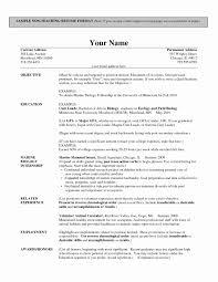 Teacher Resume Template Free Beautiful Teaching Resume Template
