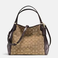 Lyst - Coach Edie Shoulder Bag 28 In Signature Jacquard in Brown