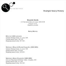 Salary History In Resumes Resume Salary History Example Trezvost