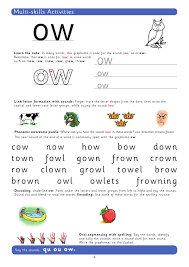Kindergarten phonics worksheets, short vowels,a,e,i,o,u, phonics printables for kindergarten, beginning consonants, ending consonants, learn to read, short vowel a, short vowel e, word families at, an, et, est, ed, hard g, writing letters. Teach The Grapheme Ow With This Phonics Worksheet Teachwire Teaching Resource