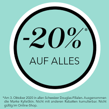 Parfümerie Douglas Schweiz - Aufgepasst! Am Samstag 03.10.2020 haben wir  20% auf alles! In allen Schweizer Filialen.   Facebook