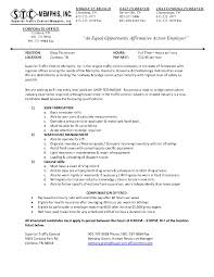 Useful Maintenance Technician Resume Skills Also Sevte