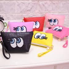whole korean portable cartoon cute eye multifunction beauty travel cosmetic bag makeup case pouch toiletry zipper mini women bags uk