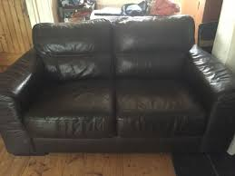 2 x arnotts chocolate colour leather couches