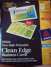 Avery Template 88220 Avery Clean Edge Inkjet Business Cards 88220 Ebay