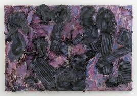 thornton dial black walk 2003 tin clothing enamel spray paint and splash zone compound on canvas on wood 64 x 96 x 6 inches 162 6 x 243 8 x 15 2