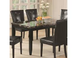 Coaster Anisa 102791 Dining Table With Black Faux Stone Top Dunk
