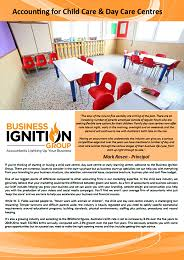 Child Care Centre Accountant Business Ignition Group
