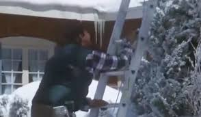 Clark Griswold Hanging Lights Passerby Saves Man Hanging From Roof But Is Left Red Faced