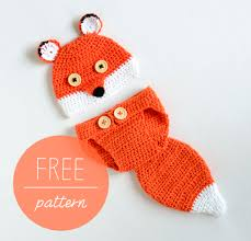 Cute Crochet Patterns Simple Crochet Baby Hat And Diaper Cover Cute Fox Croby Patterns