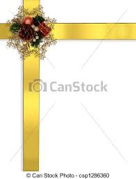gold ribbon border christmas border ribbons gold image and illustration stock