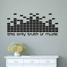 DIY The Only Truth Is <b>Music Wall Decals</b> Quotes DJ Equalizer Studio ...