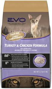 low protein cat food. EVO Turkey \u0026 Chicken Cat Kitten Food - Grain Free Dry That\u0027s High In Protein, Low Carbohydrates, Easy To Digest And Promotes A Healthy Skin Protein