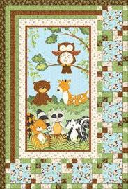 57 best Panel Quilts images on Pinterest | Baby room, Balloons and ... & Flannel Forest Friends Quilt (I like the lay out - could use the layout for Adamdwight.com