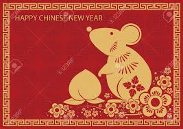 Chinese New Year Card Chinese New Year Card Rat Royalty Free Cliparts Vectors And