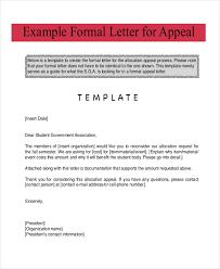 Formal Letter for Appeal