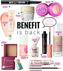 s in south africa and best of all benefit cosmetic counters with makeup artists for as