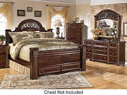 queen bed set with storage. Beautiful Bed Gabriela Queen Bedroom Set With Poster Storage Bed Dresser And Mirror In  Dark Reddish Brown And With