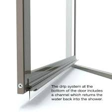 shower door drip rail replacement pivot framed chrome with vinyl sweep pi