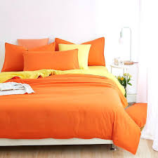 solid orange bedding set with yellow bed sheets twin full queen size linenorange and black chrysanthemum orange duvet cover standard