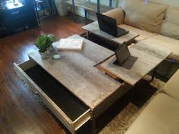 double pop up barn wood coffee table lift australia il full