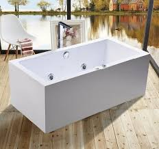 1600mm indoor contemporary white soaking freestanding bath tub indoor jacuzzi hot tubs