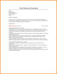 10+ plain text format resume