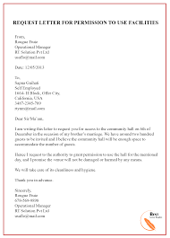 Permission Letters Template Request Letter Template For Permission Format Sample Example
