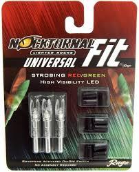 G5 Lighted Nocks Rage Nockturnal Universal Fit Strobing Lighted Nock Redgreen 3pk H S Gt X 01183