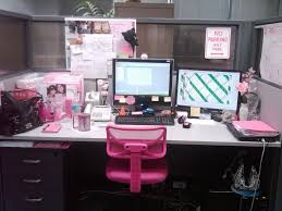 desk decorating ideas workspace cute cubicle decorating ideas work pink chair white desk storage drawer cool