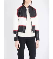 women jackets uk belstaff whitaker leather jacket black white red women belstaff
