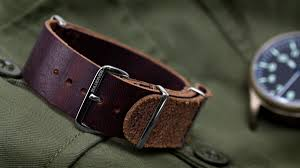 the first leather watch straps