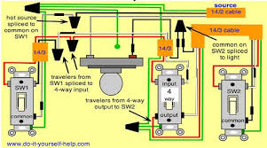 excellent 3 way switch wiring diagrams do it yourself help 2- Way Light Switch Wiring Diagram at 3 Way Switch Wiring Diagram Light In Middle
