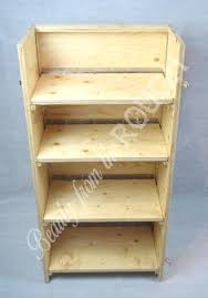 folding display shelves wood