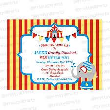 Carnival Birthday Invitations Carnival Invitations