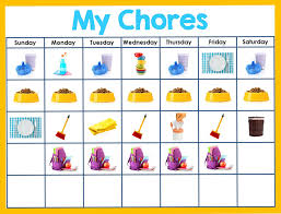 Editable Chore Chart For Adults Editable Chore Chart For Kids