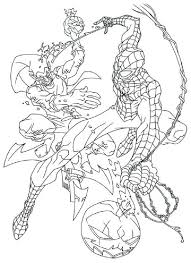 Spiderman caught by dr octopus coloring page. Spiderman Coloring Pages Green Goblin