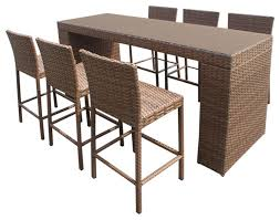 Interesting Patio Furniture Bar Rustico Pub Table Set With Outdoor Wicker Bar Furniture