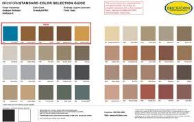 Brickform Acid Stain Color Chart Brickform Color Hardener