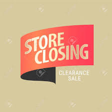 Store Closing Sale Vector Illustration Background Template
