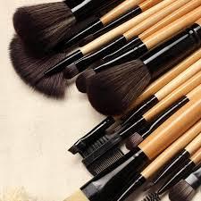 eyebrow brushes kit. 18pc wooden brush kit eyebrow brushes