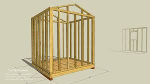 framing a wall. Shed Wall Layout Simplified In This SketchUp Model View Framing A L